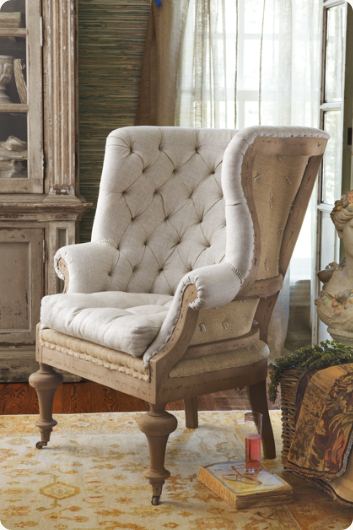 Ordinaire Fontaine Wingback Chair   Tufted Wingback Chair, Wingback Chair, Linen  Upholstered Chair | Soft Surroundings
