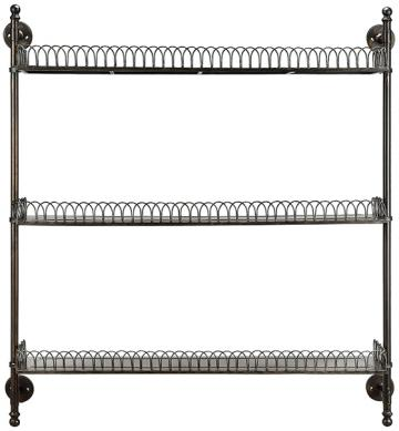boswell iron wall shelf wall shelves display storage display rh lifeistry com iron hanging shelves rod iron wall shelves