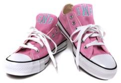 Th bespoke monogrammed converse pink