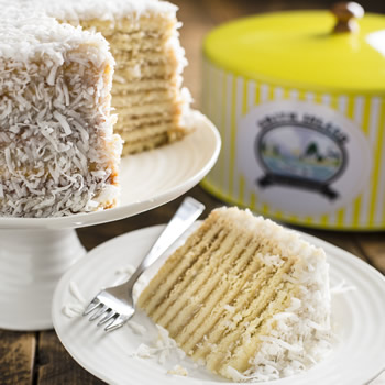 Coconut smith island cake